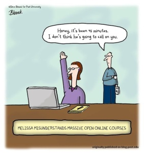 online teaching cartoon