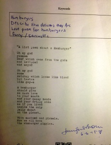 poem hamburgers DI
