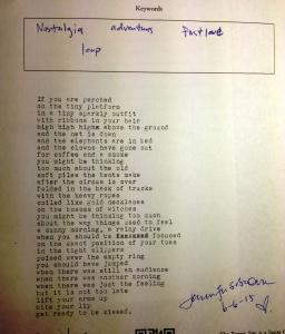poem nostalgia DI