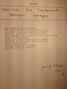 poem strangers teenagers