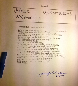 poem uncertainty awesomeness DI