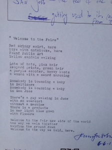 poem welcome to the faire