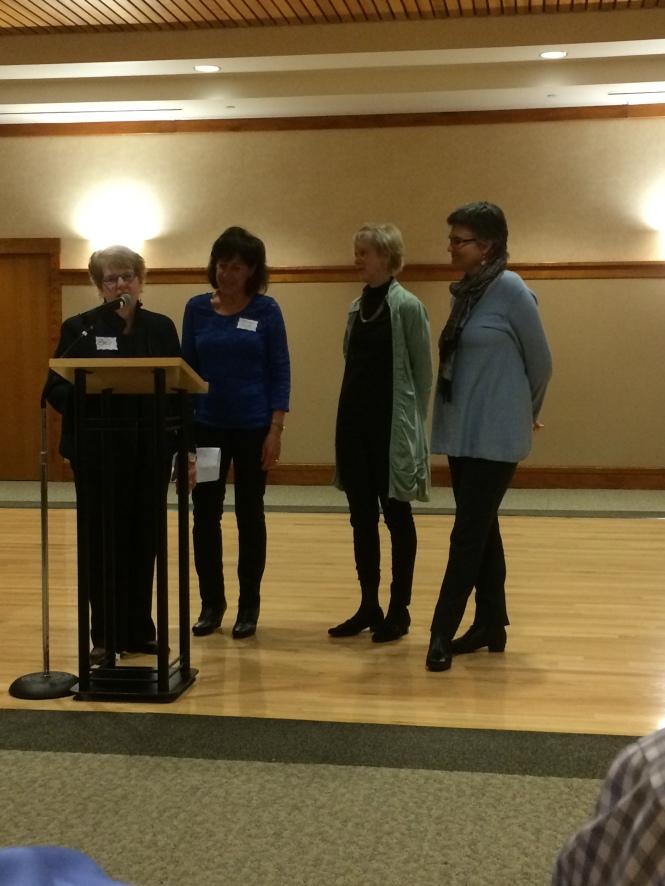 bev speaking with Adrian Ann and JSB