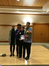 JSB flowers with Ann Adrian Bev