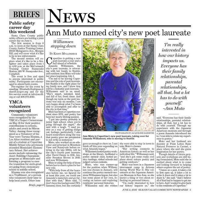 Cupertino Courier June 03 2016 Ann Muto page
